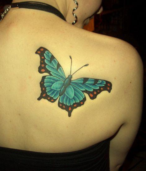 motyl na plecach