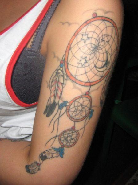 Tatuaż łapacz Snów Na Ramieniu