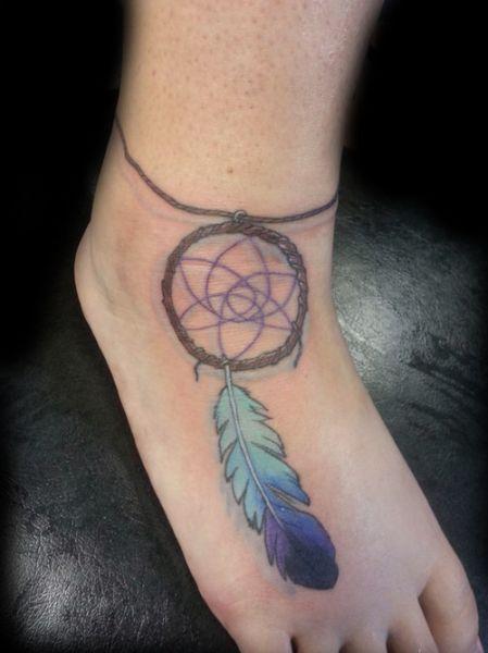 Tatuaż łapacz Snów Na Nodze