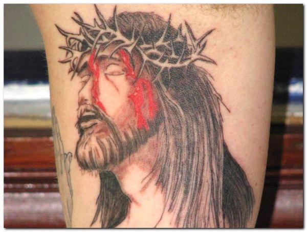 tatuaż Chrystus