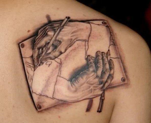 Tatuaż Dłonie 3d
