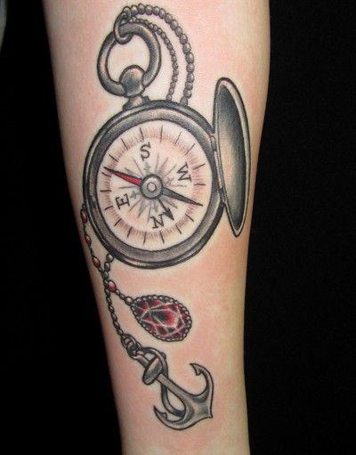 Tatuaż Kompas Z Kotwicą