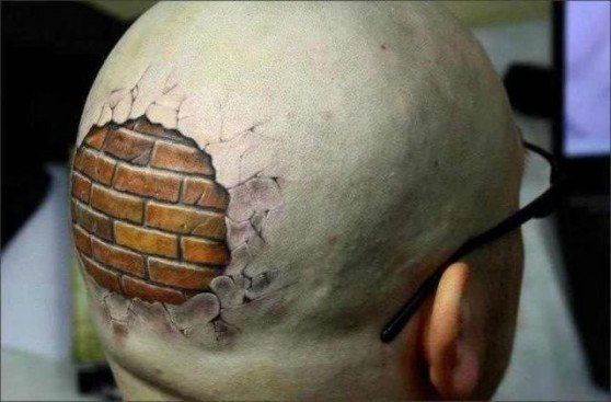 Tatuaż Na Głowie 3d
