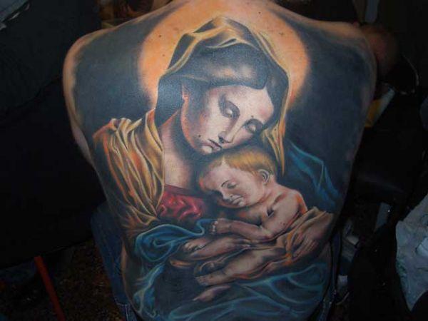 Tatuaż Matka Boska Z Dzieciątkiem