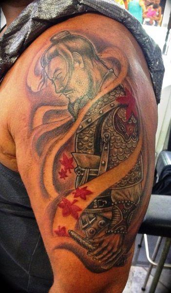 tatuaż japoński wojownik