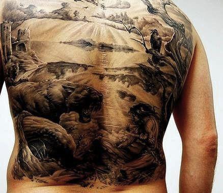 Tatuaż Obraz Na Całe Plecy