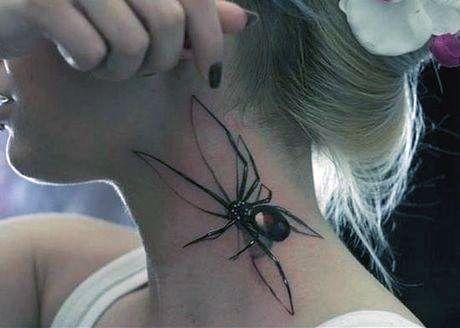 amazing spider tattoo 3d