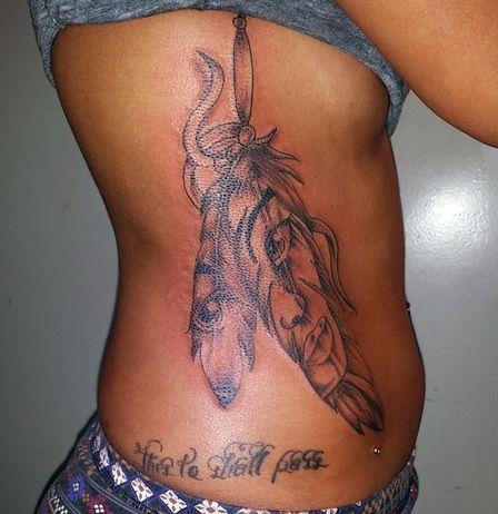 tatuaż twarz indianki