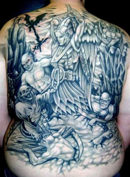 angels and demons tattoo