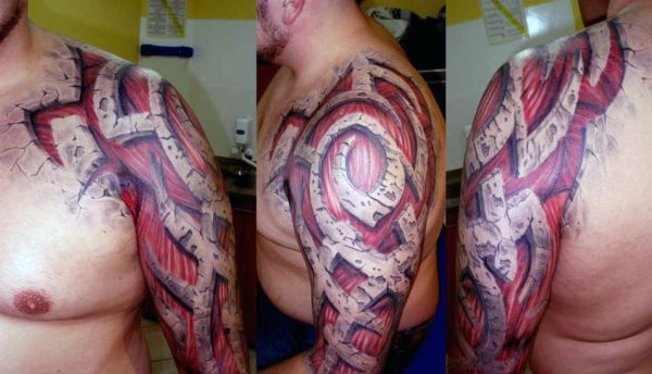 3d arm tattoo