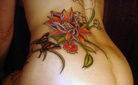 lovely  lower back tattoo