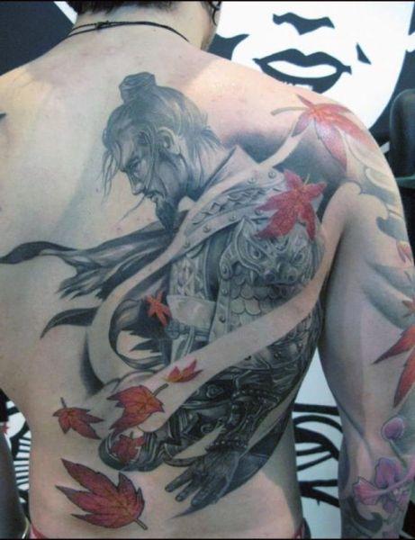 tatuaże męskie wojownik