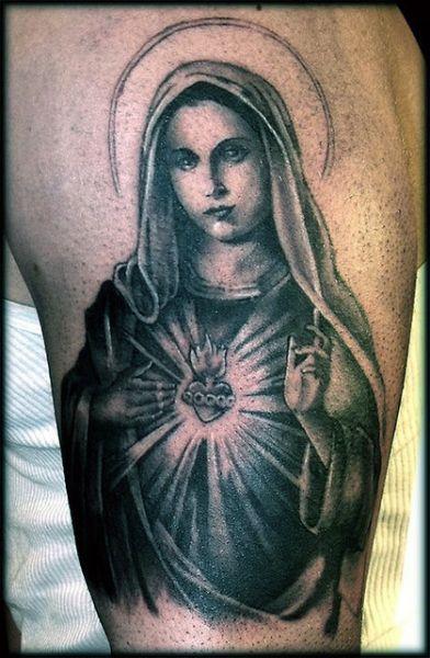 tatuaż Matki Boskiej