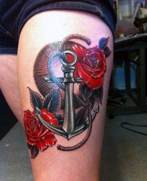 Tatuaże Damskie Róża Na łokciu