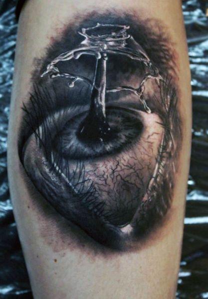 amazing 3d eye tattoo