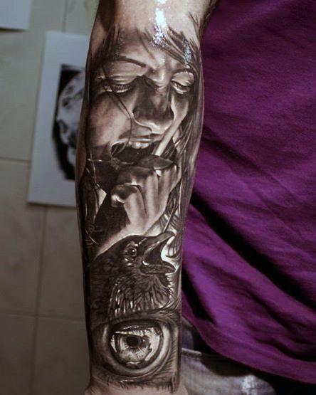 tatuaże męskie na przedramieniu