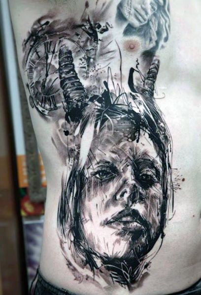 amazing 3d tattoo for man