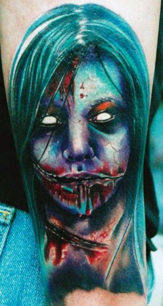 tatuaż zombi