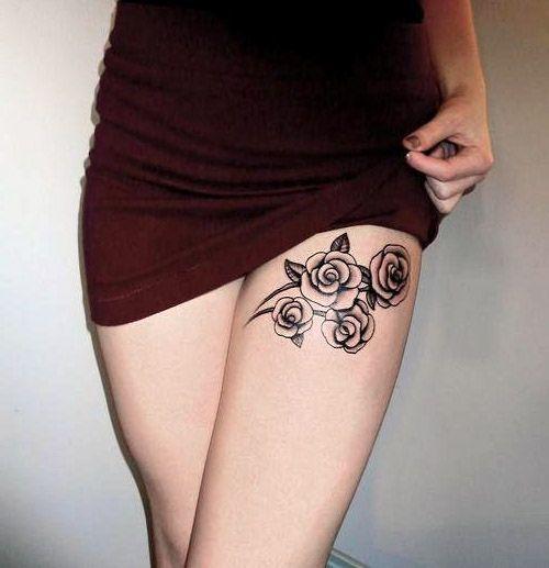Tatuaże Damskie Delikatne Róże