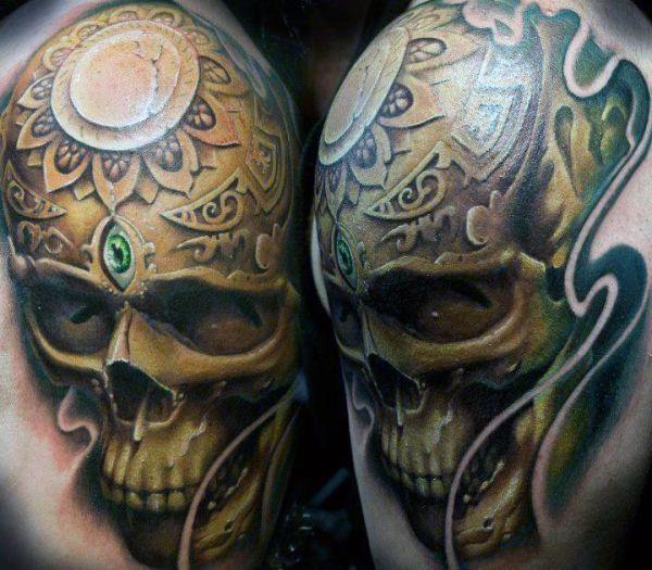 tattoo skull 3d