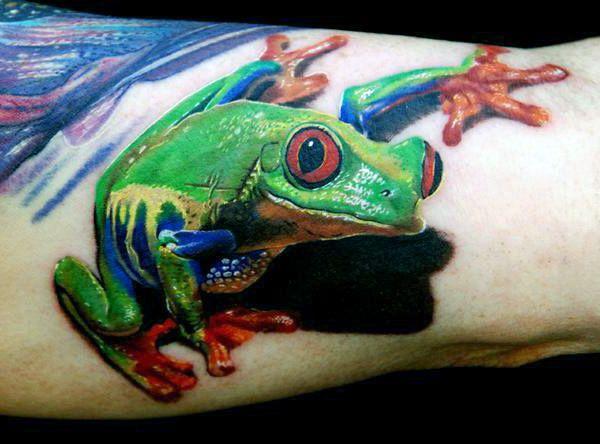 tatuaż żaby