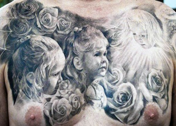 Tatuaże Męskie Na Piersi Dzieci