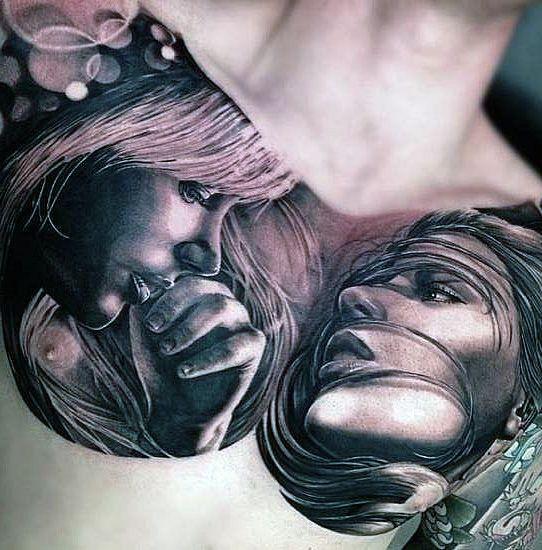 tatuaże 3d na piersi