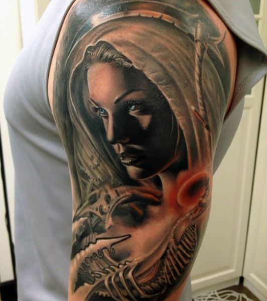 women arm tattoo for man
