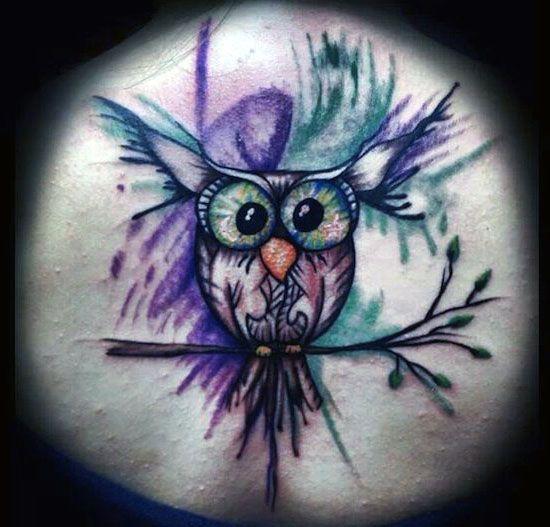 bird tattoo owl