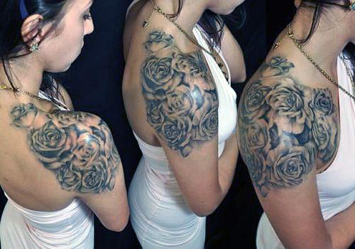 tatuaże damskie piękne róże