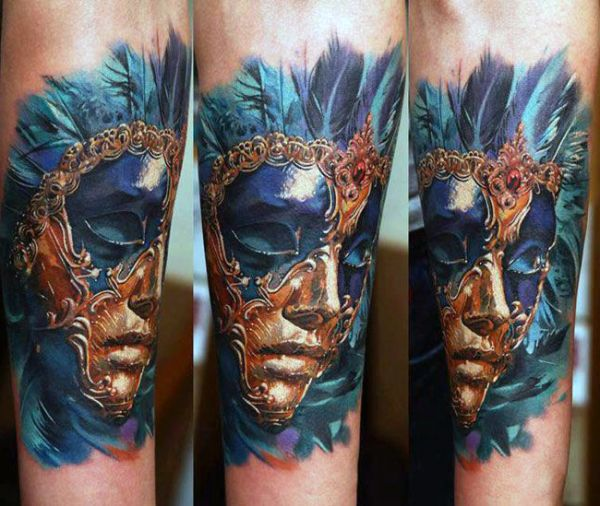 mask tattoo 3d