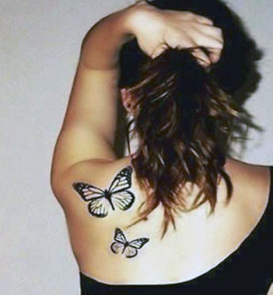 shoulder tattoo butterfly