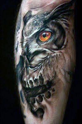 incredible owl tattoo