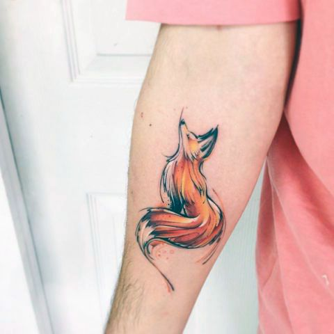 animal tattoo fox