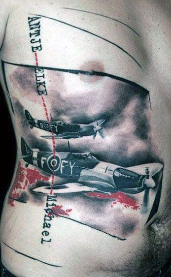 war tattoo airplanes