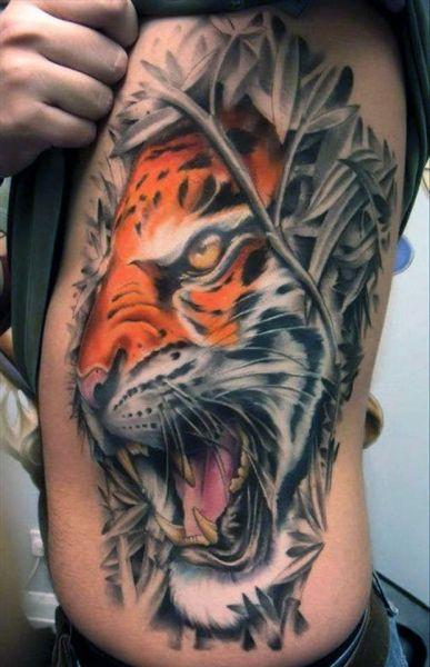 tatuaże zwierzęta tygrys 3d