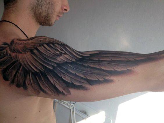 wing arm tattoo