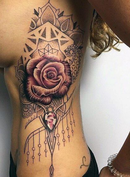 rose tattoo for woman