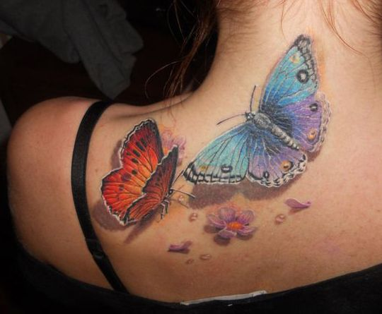 butterflies tattoo for women