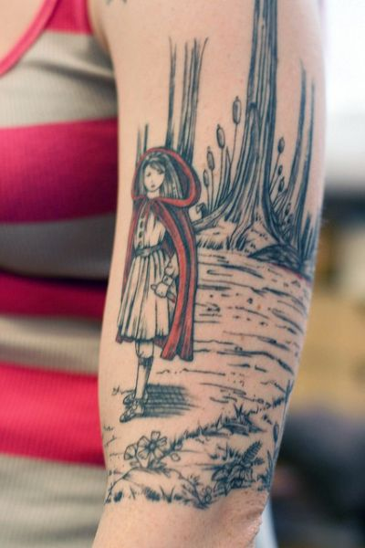fairytale shoulder tattoo