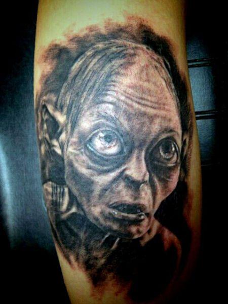 smeagol tattoo