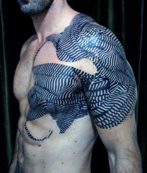 men 3d tattooon arm