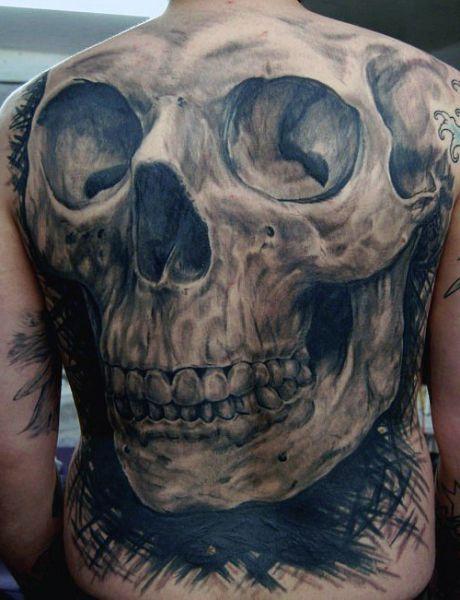 tattoo skull on back