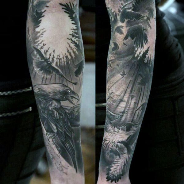 crows tattoo
