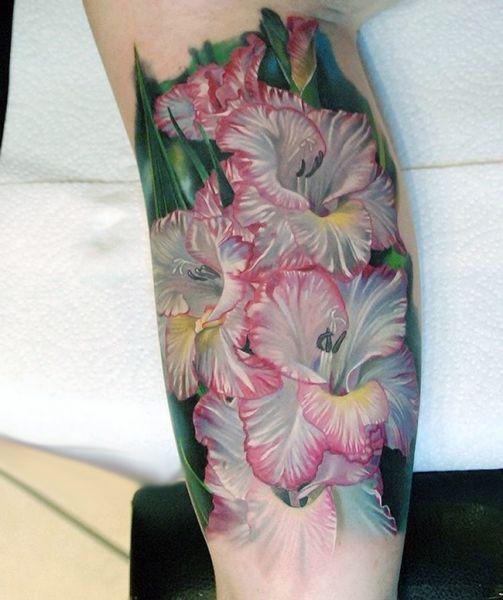realistic flower tattoo 3d