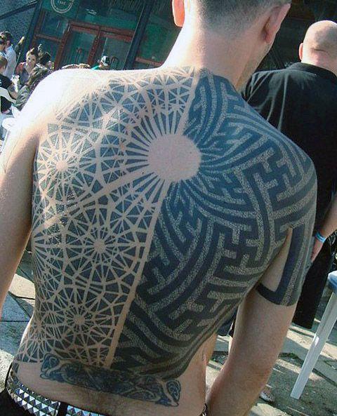 incredible 3d man tattoo