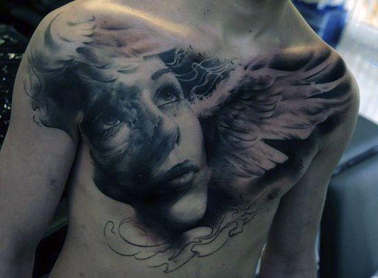 men chest amazing angel face