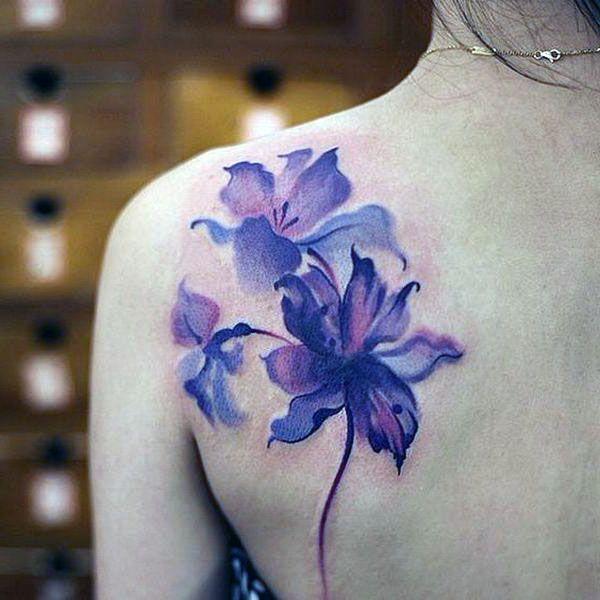 beauty tattoo on shoulder