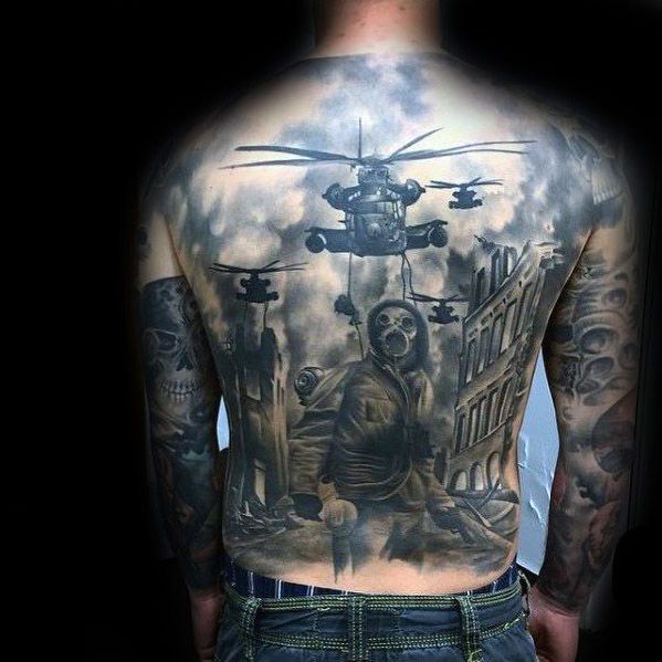 incredible full back apocalypse tattoo