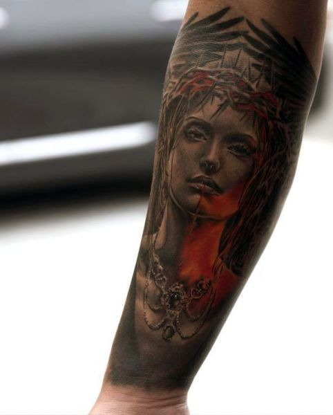 woman art tattoo